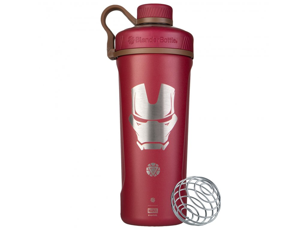 Nerezová termo fľaša BlenderBottle Marvel® - Radian™ Insulated Stainless Steel - Iron Man 770 ml