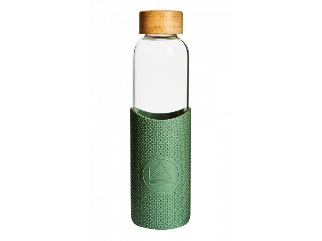 Sklenená fľaša na vodu Neon Kactus - Happy Camper 550 ml