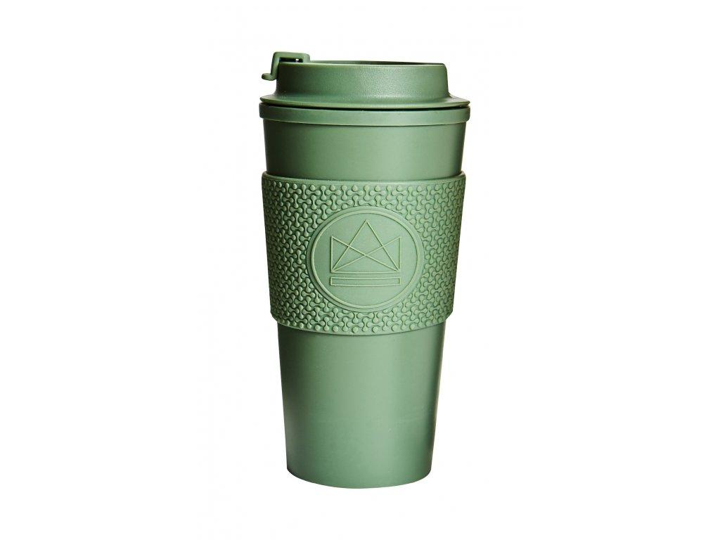 Hrnček na kávu Neon Kactus Double Walled - Happy Camper 450 ml
