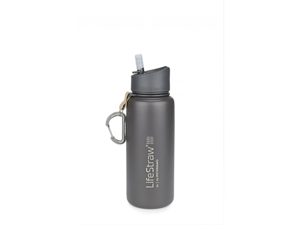LifeStraw Go stainless steel grey front