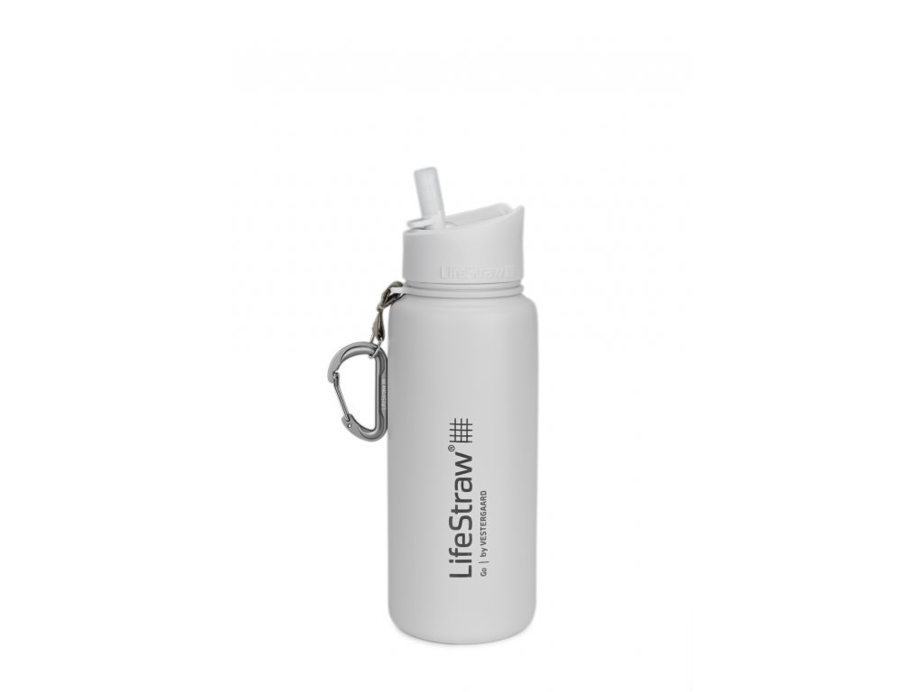 LifeStraw Go stainless steel white front