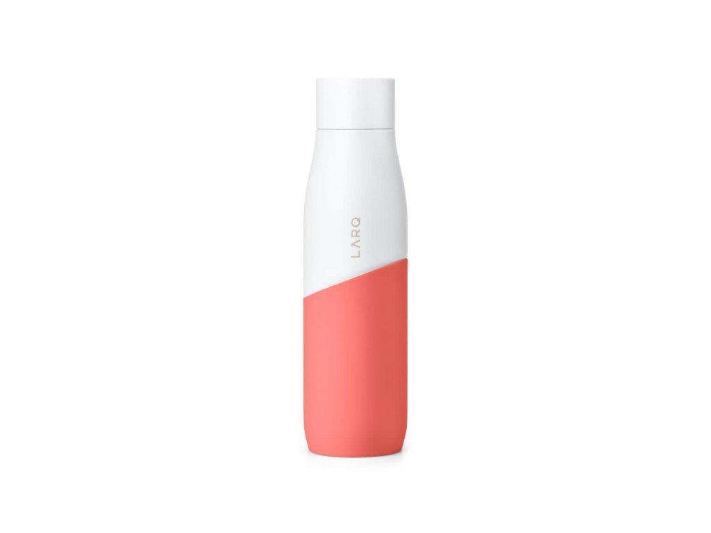 Samočistiaca fľaša LARQ  White/Coral