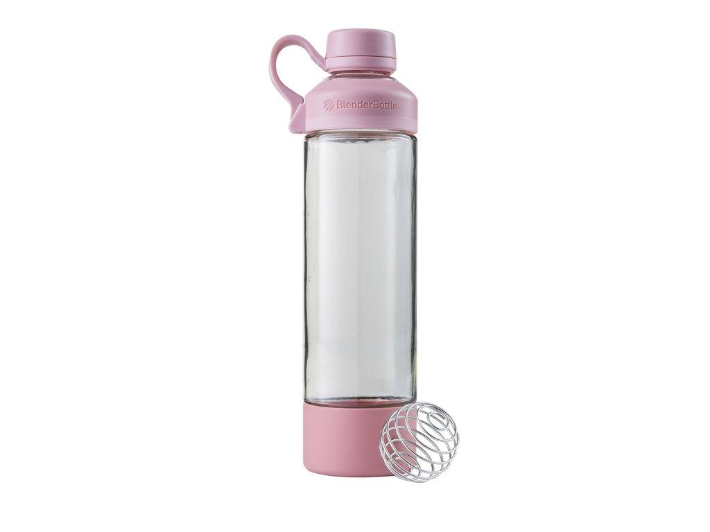 BlenderBottle sklenená fľaša na jógu Rosé Pink