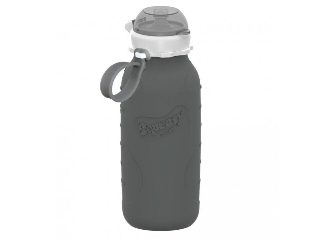 Silikónová fľaša Squeasy Gear sivá