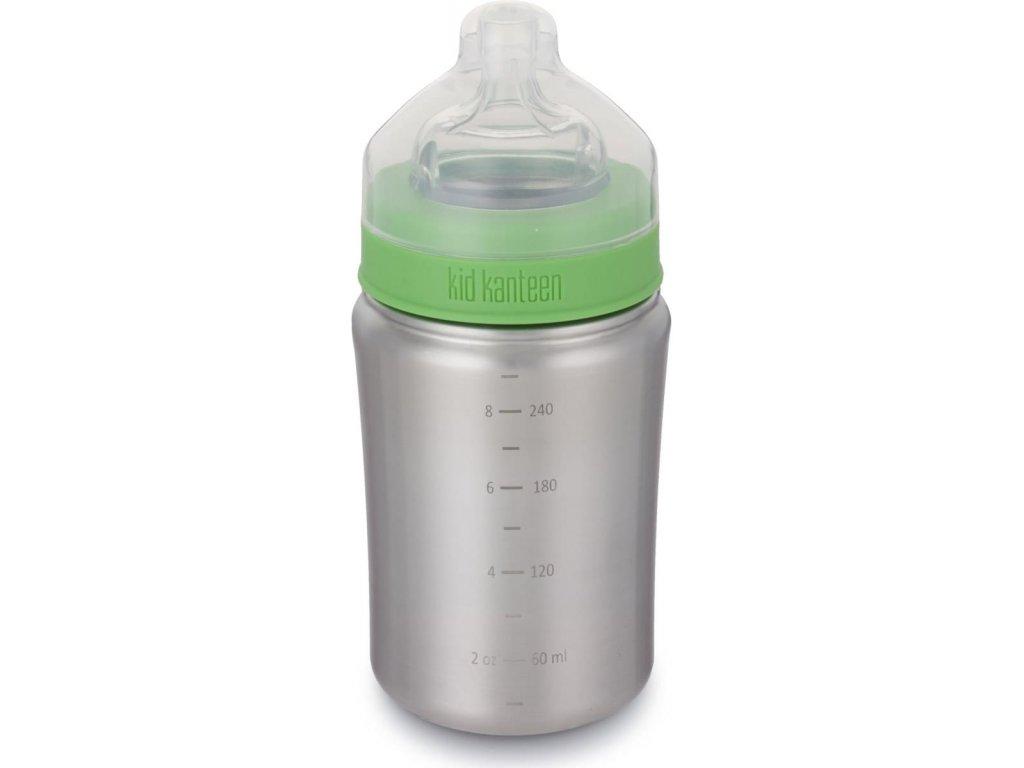 detská nerezová fľaša klean kanteen zelená 266ml