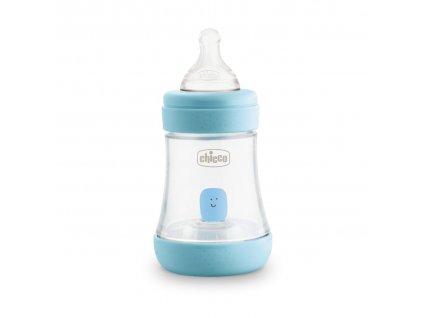 Dojčenská fľaša CHICCO Perfect 5 silikón, 150 ml chlapec