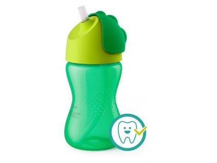 Detský hrnček s ohybnou slamkou Avent Bendy 300 ml chlapec