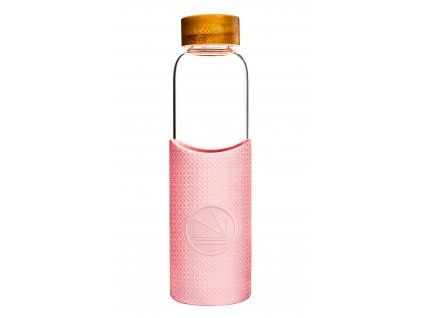 Sklenená fľaša na vodu Neon Kactus - Pink Flamingo 550 ml