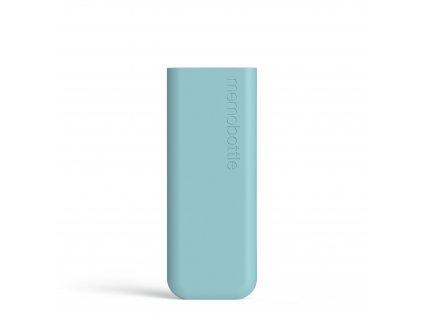 Silikónový obal na fľašu na vodu Memobottle Slim - Sea Mist 450 ml