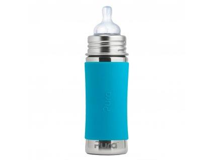 Nerezová dojčenská PURA fľaša aqua
