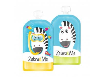 Zebra&Me kapsicky 2ks potapac+zebra