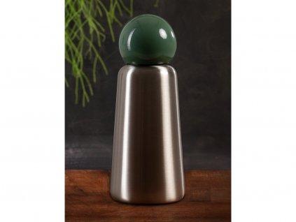 Termo fľaša LUND LONDON Skittle Adventure Bottle Mini 300ml - Stainless Steel & Khaki