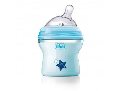 Dojčenská fľaša CHICCO Natural Feeling 150 ml, chlapec 0m+