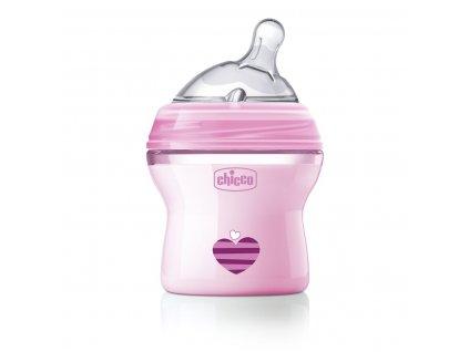 Dojčenská fľaša CHICCO Natural Feeling 150 ml, dievča 0m+