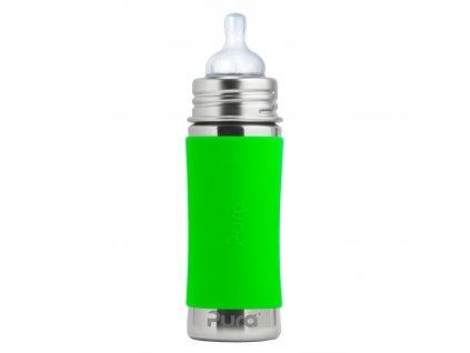 Nerezová dojčenská fľaša zelená