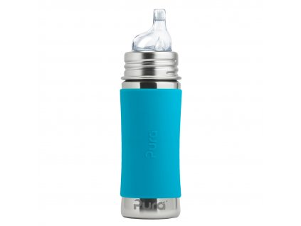 Nerezová fľaša s náustkom aqua