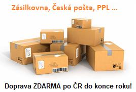 Doprava ZDARMA po ČR do konce roku