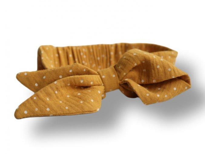 čelenka s mašlí žlutá