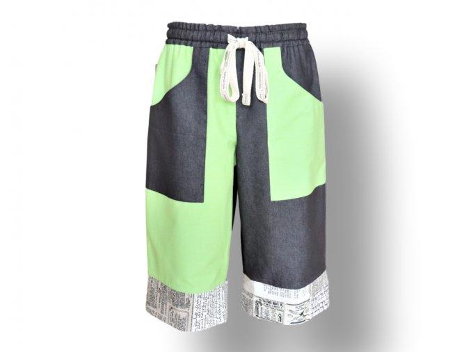 pánské kraťasy volnočasové zelené barvy