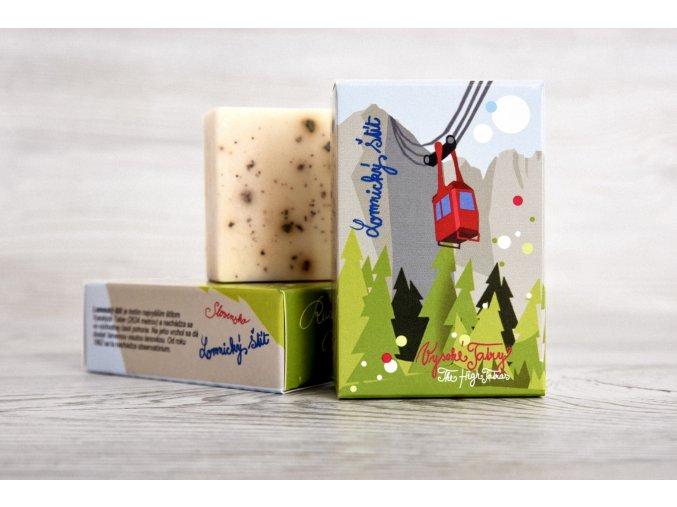 Bylinkové mydlo suvenír Vysoké Tatry Lomnický štít