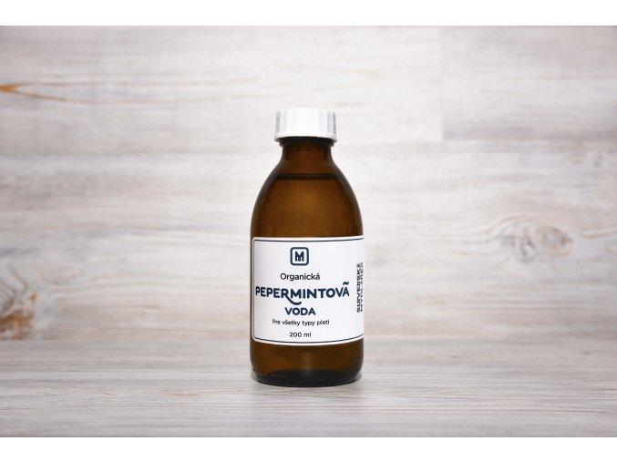 kvetová orgnická pepermintová voda
