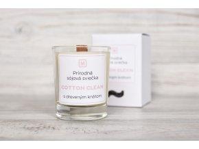Ekologická sójová sviečka Cotton Clean vôňa čistoty