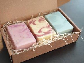 Sada prírodných mydiel: 3x bambucké mydlo mix vôní
