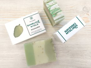 bambucke mydlo rozmarin zelene