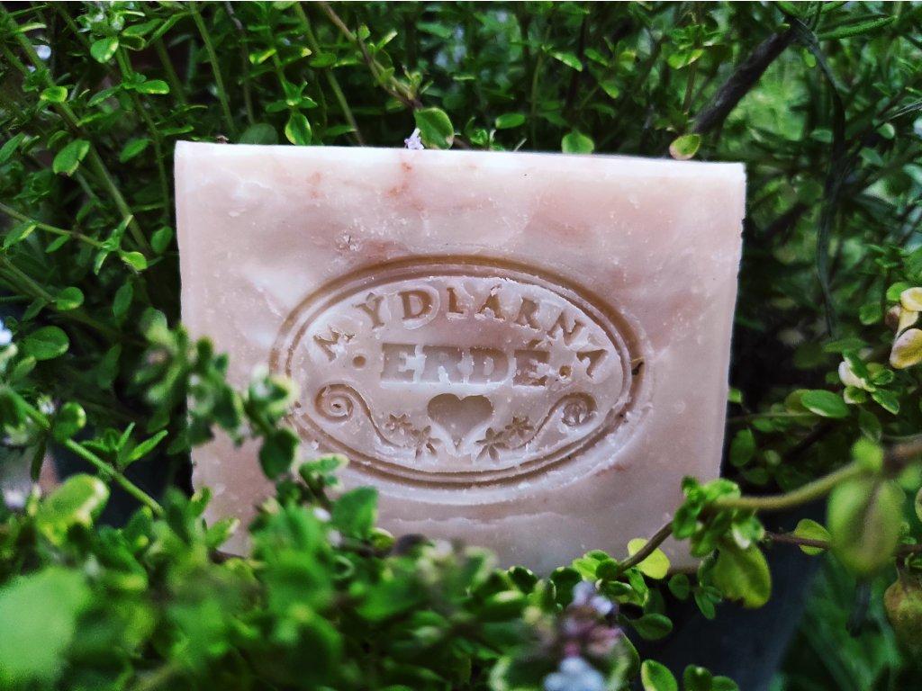 Růžový jíl a tymián přírodní mýdlo 100 g