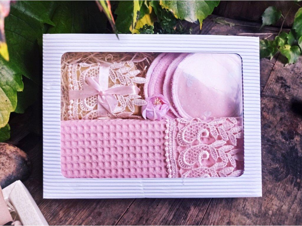 Růžová kosmetická sada