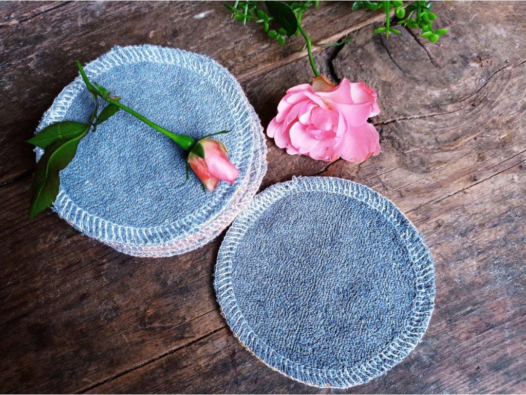 Kosmetické froté tampony šedé 15 ks