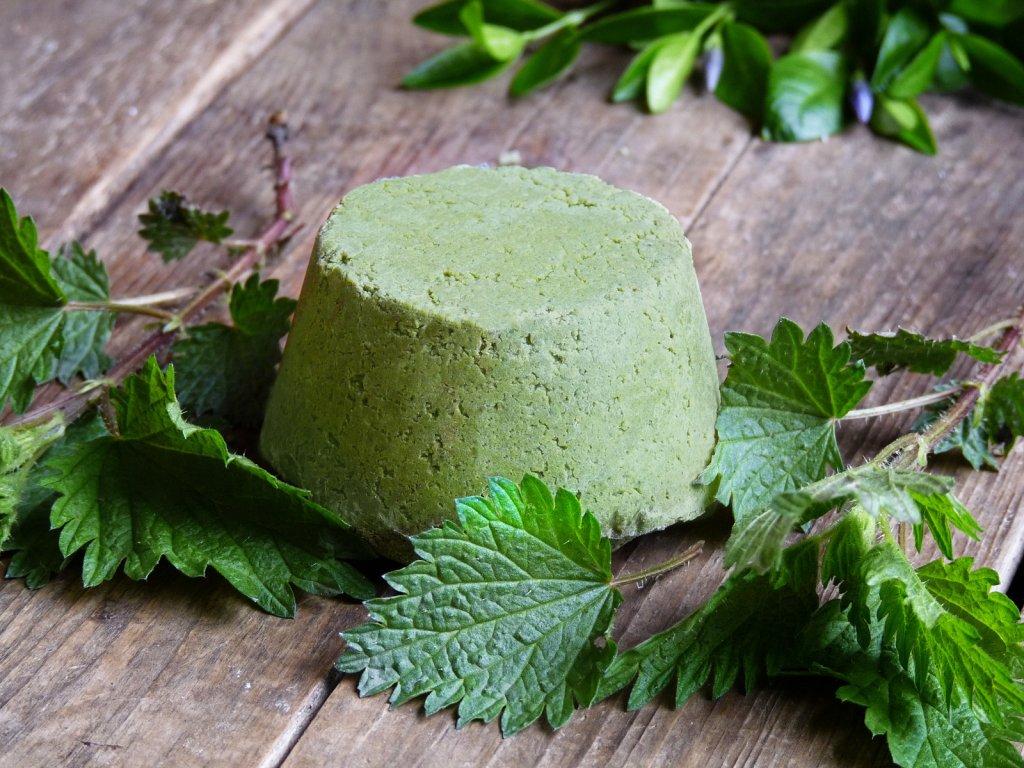 zelený čaj a kopřiva šampuk