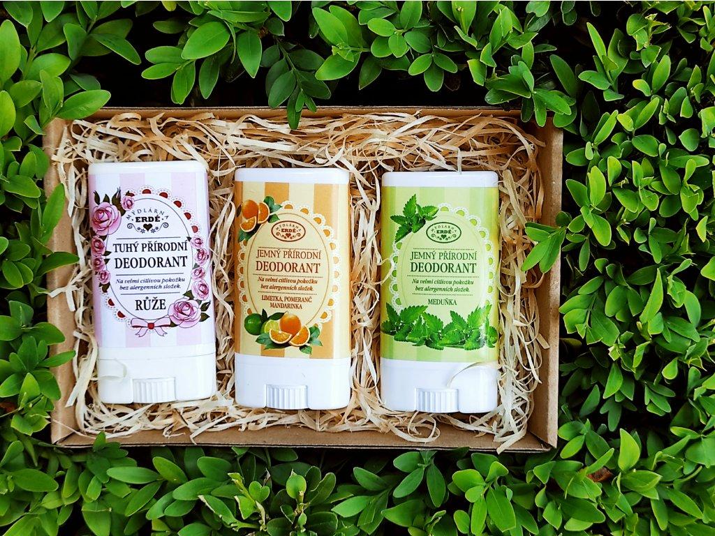 Sada přírodních deodorantů