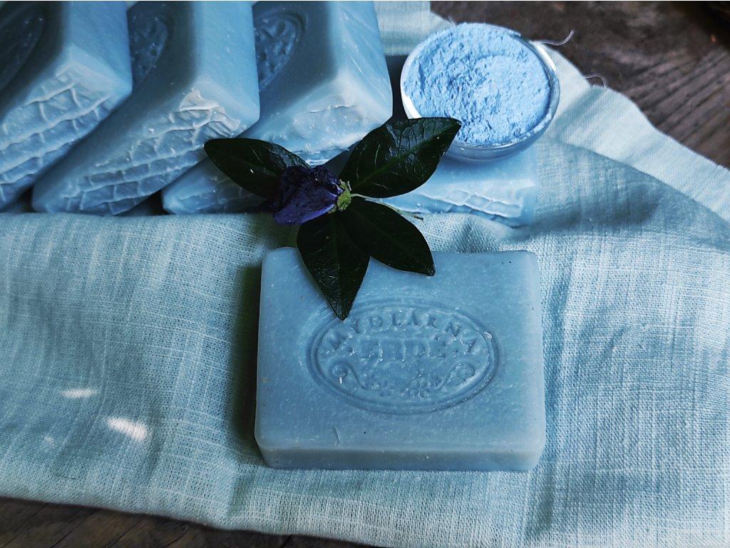 Přírodní Lněné mýdlo s modrým jílem 20 g