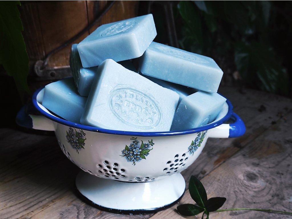 Přírodní Lněné mýdlo s modrým jílem 100 g