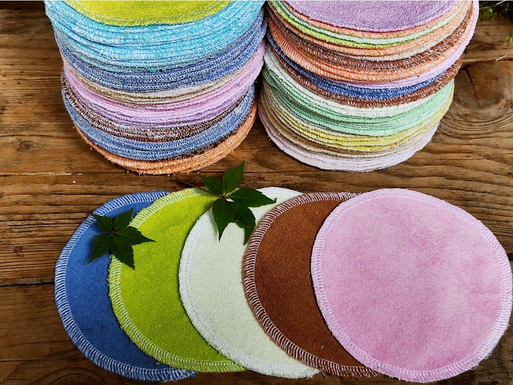 Mix froté kosmetické tampony 5 ks / 13 cm