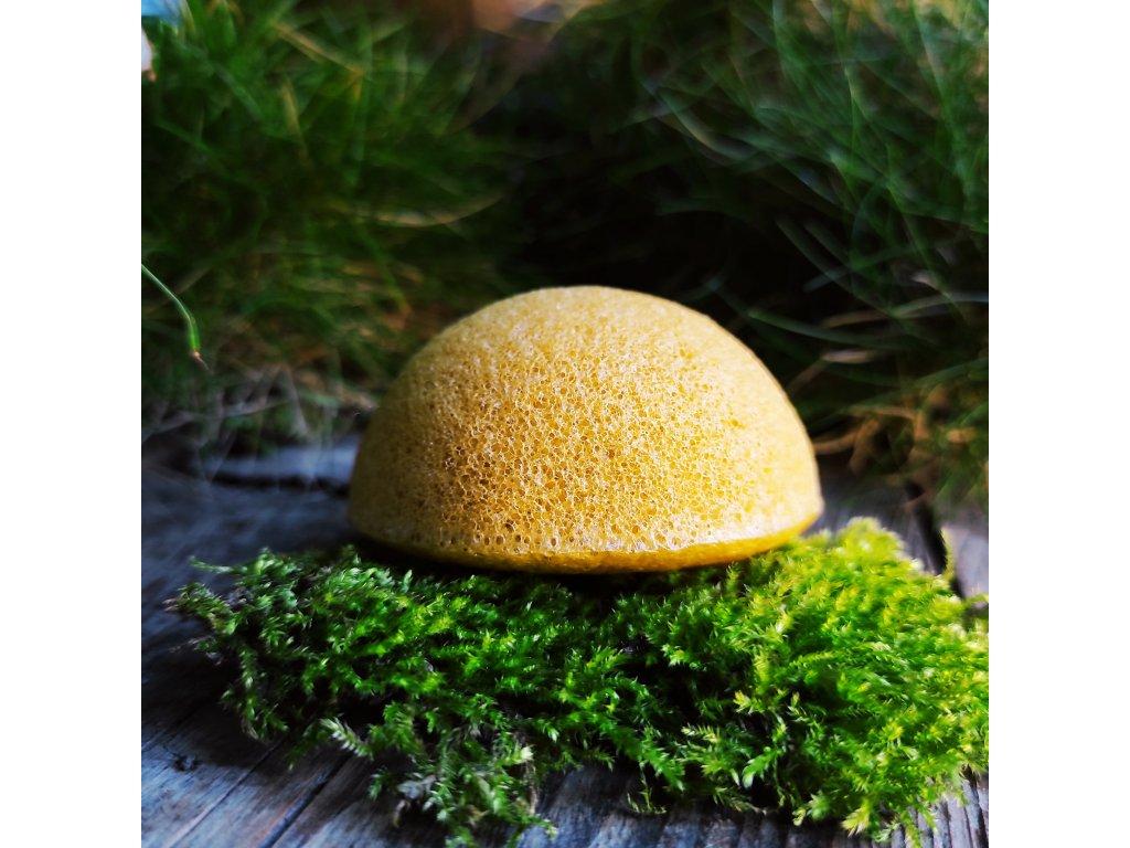 Žlutý konjak přírodní čistící houbička