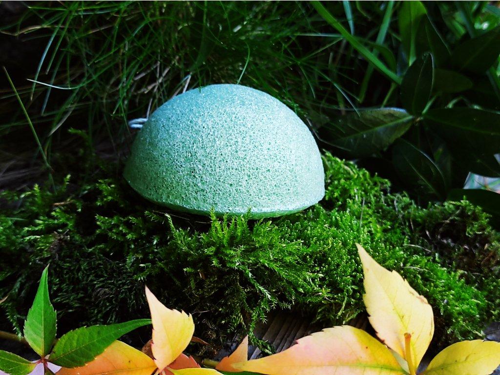 Světle zelený konjac přírodní čistící houbička