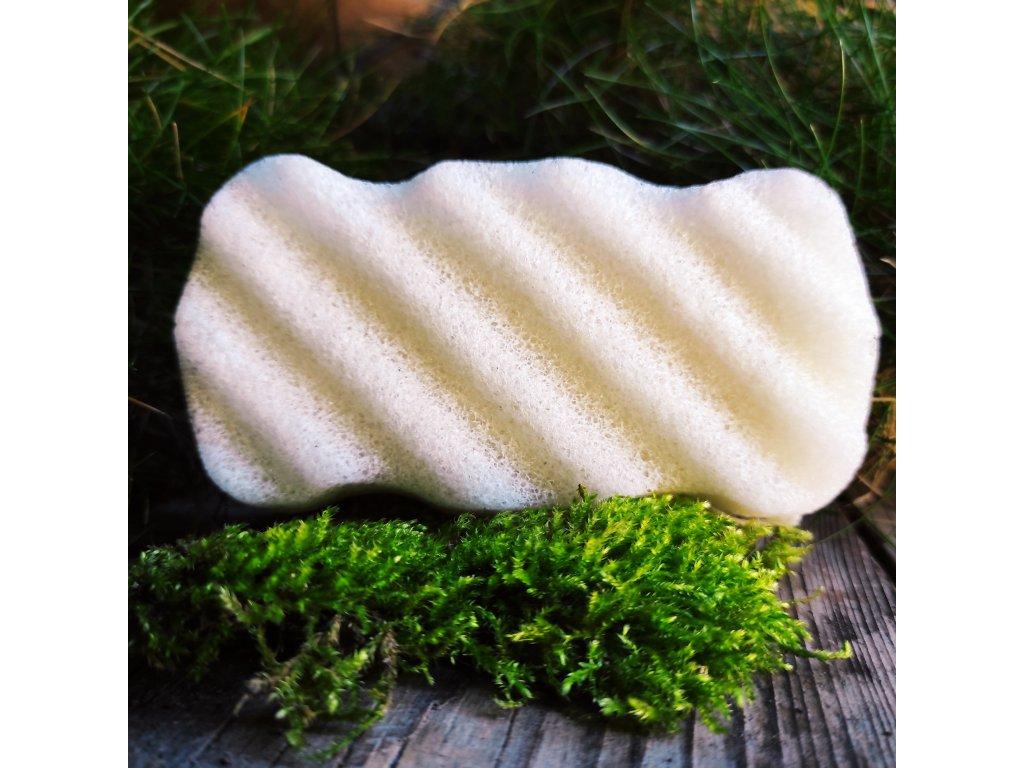 Tělový konjac přírodní čistící houbička