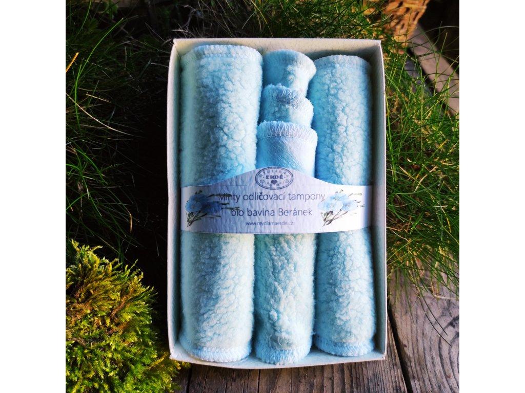 Minty sada odličovacích textilních tamponů