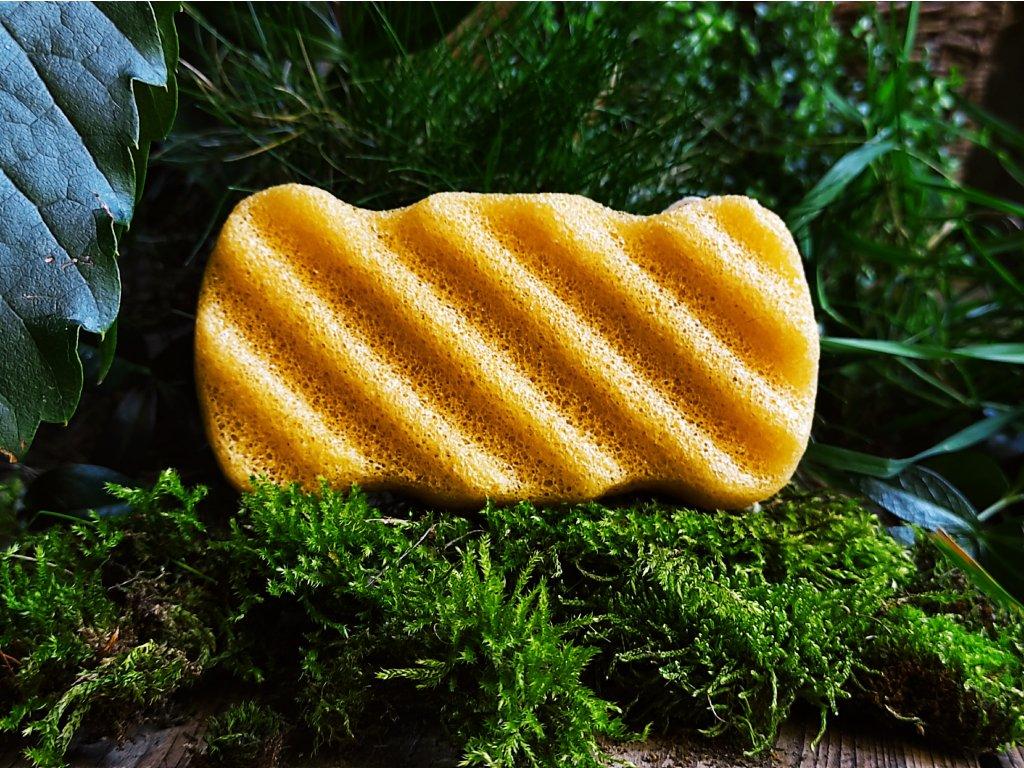 Tělový žlutý konjac přírodní čistící houbička