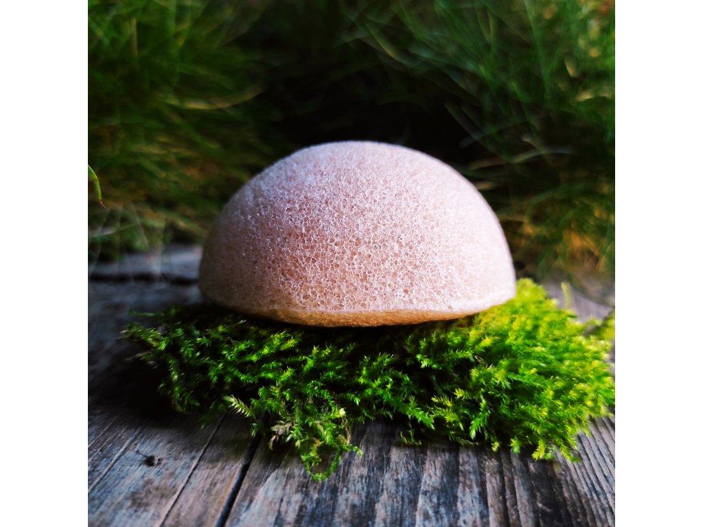 Růžový  konjac přírodní čistící houbička