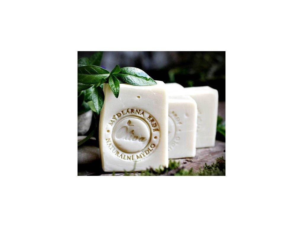 Přírodní olivové mýdlo s kozím mlékem - Oliva 97%