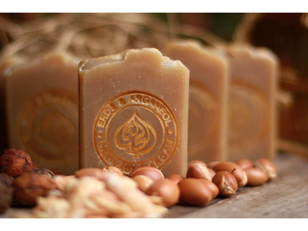 Přírodní tuhý šampon Hedvábný argan 100 g - mýdlový