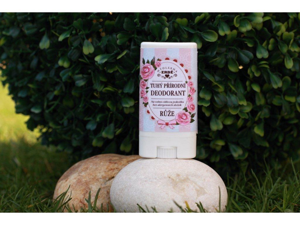 Růže tuhý přírodní deodorant