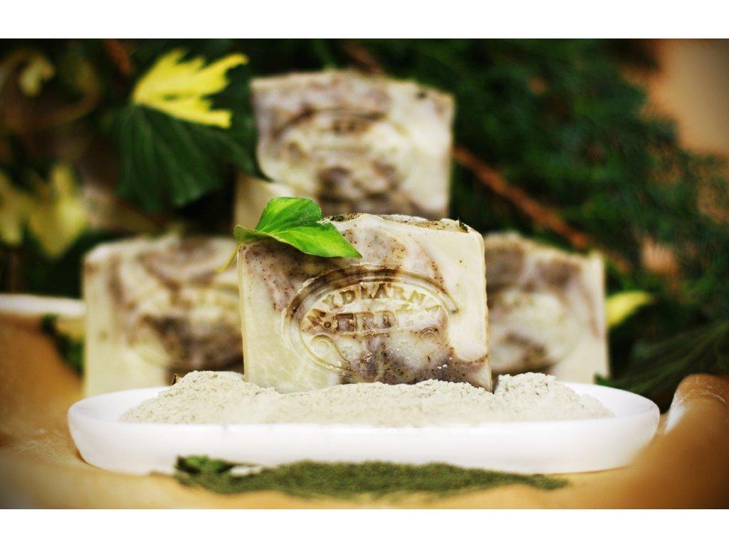 Přírodní mýdlo Zelený jíl a máta 100 g