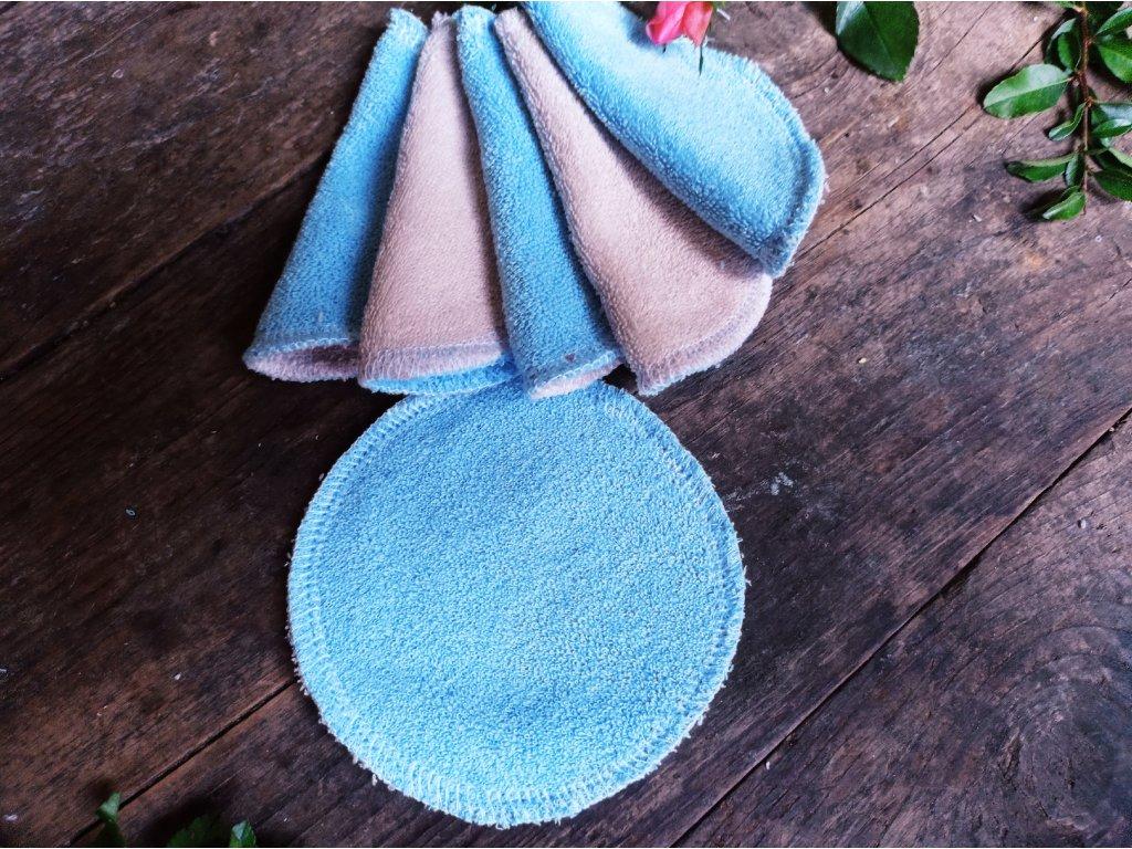 Kosmetický tampon modrý 10 ks