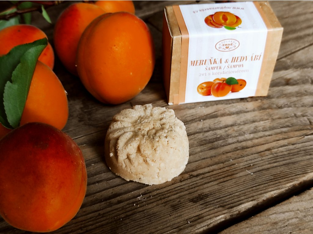 Meruňka a hedvábí přírodní šampuk s kondicionérem 20 g