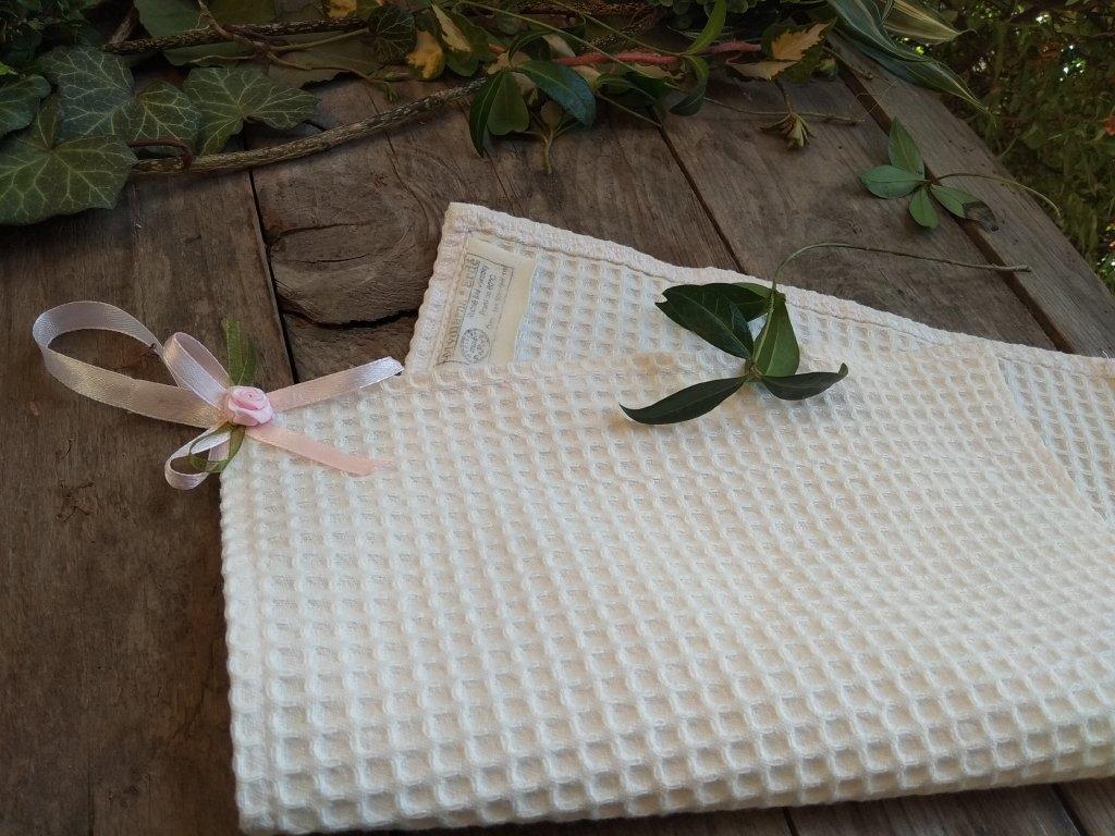 Vaflový ručník s mašlí