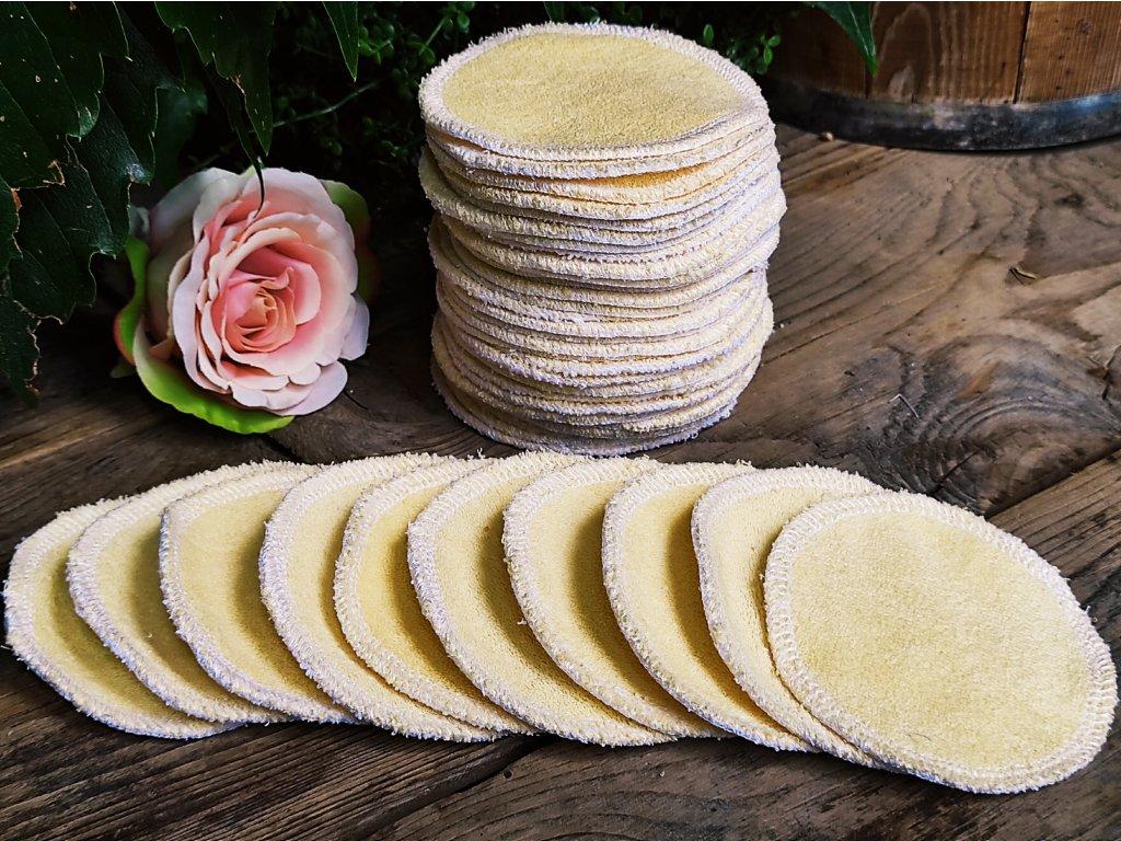 Kosmetické froté tampony žluté 15 ks